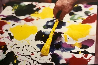 Kurt Blum, 'Sam Francis painting (close up)', 1986