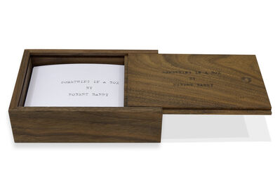 Robert Barry, 'Something in a box', 2014