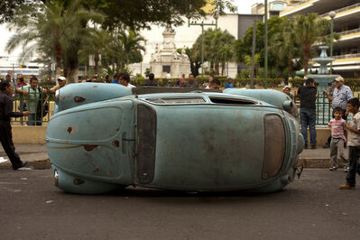 "Crack Rodriguez, 'VW Beetle from the performance ""Overturned VW""', 2014"