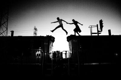 Tyler Shields, 'Train Jump', 2013