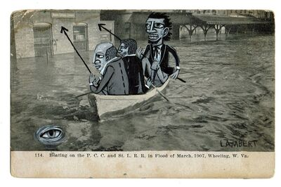 David Lambert, 'Fishermen and Captain Ahab', 2020