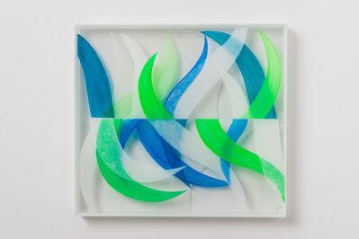Brigita Huemer, 'Blu and green', 2017