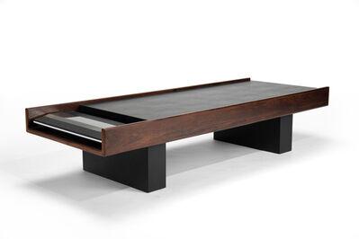 John Scott, 'A John Scott for Bang & Olufsen custom designed low table/stereo system in dark walnut and textured black vinyl'