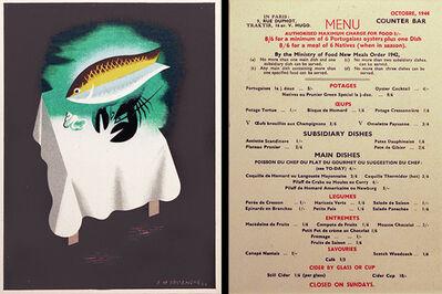 A.M. Cassandre, 'MAISON PRUNIER - PARISIAN & ENGLISH RESTAURANT - MENU CARD FEATURING ARTWORK BY CASSANDRE', 1944