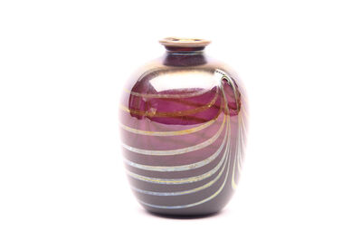 Dale Chihuly, 'Dale Chihuly Signed Original 1971 Violet Vase with Gold Detailing Handblown Glass', 1971