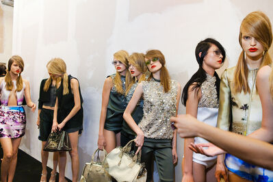 Lauren Greenfield, 'Models backstage at Prada's spring show, Milan, ED 1/5', 2009