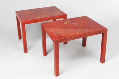 Jean Dunand, 'Pair of tables ', ca. 1925