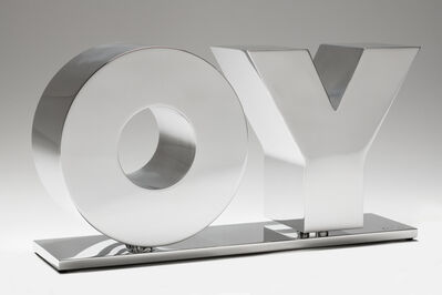 Deborah Kass, 'OY/YO (Polished Aluminum / Silver)', 2020