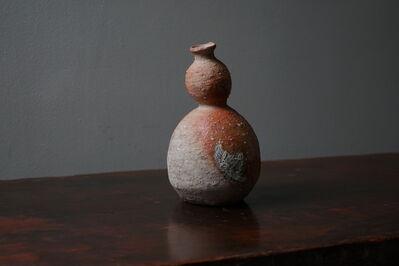 Shiro Tsujimura, '信楽徳利, Sake-Jar (Shigaraki-Style) 17011'