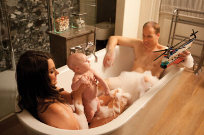 Alison Jackson, 'Will, Kate and Baby in Bath', 2013