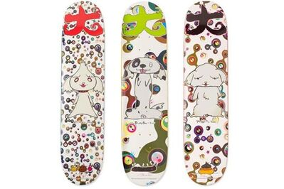 Takashi Murakami, 'BunBu-Kun, Ponchi-Kun, and Shimon-Kun Skateboard Tryptich (Set of 3 Limited Edition Skate Decks)', 2007