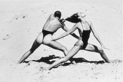 Helmut Newton, 'Beach Excercise, Miami', 1975