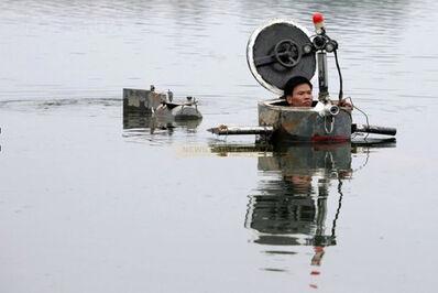 Cai Guoqiang 蔡国强, 'Da Vincis do Povo, China Research (Tao Xiangli in his submarine)', September 2009