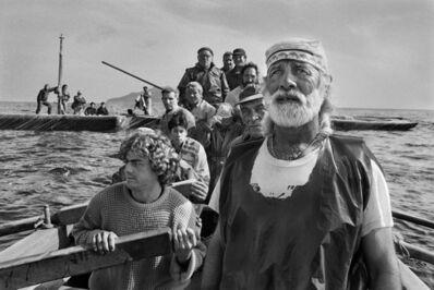 Sebastião Salgado, 'Departure for La Mattanza, traditional tuna fishing. Trapani, Sicily, Italy.', 1991