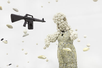 Maurice Mbikayi, 'Baby Shower with a Gun', 2019