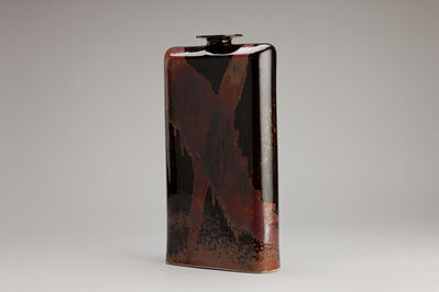 Brother Thomas Bezanson, 'Flask form vase, honan tenmoku glaze', n/a