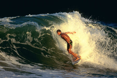 Walter Iooss, Jr., 'Kelly Slater, Melbourne Beach, FL', 1990