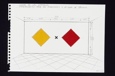 Horacio Zabala, 'Anteproyectos para dos monocromos y un signo de producto', 2011