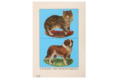 Peter Blake, 'Cat and Dog', 2014