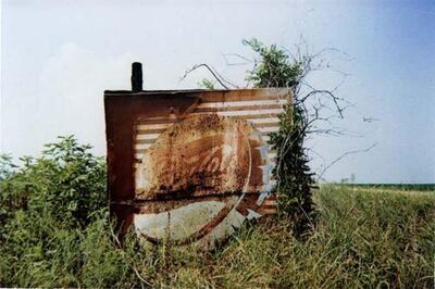 William Christenberry, 'Pepsi Cola Sign in Landscape - Near Uniontown, Alabama', 1978