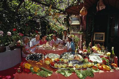 Slim Aarons, 'Lunch At La Pigna', 1980