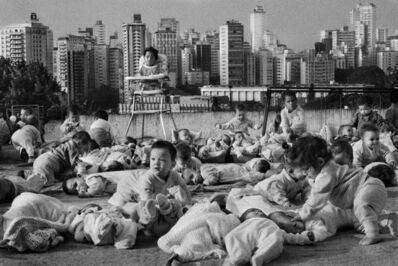Sebastião Salgado, 'Babies playing on the roof of a FEBEM (foundation for Child Welfare) center in the Pacaembu district, São Paulo, Brazil', 1996