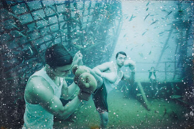 Andreas Franke, 'Kenny Hits Pete (The Sinking World–Vandenberg Project)', 2011