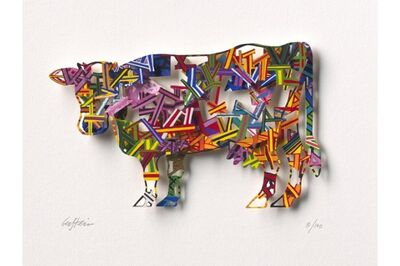 David Gerstein, 'Constructive Cow - Paper Cut', 2007