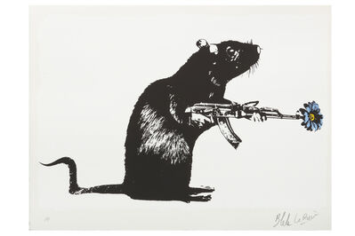 Blek le Rat, 'The Warrior', 2016