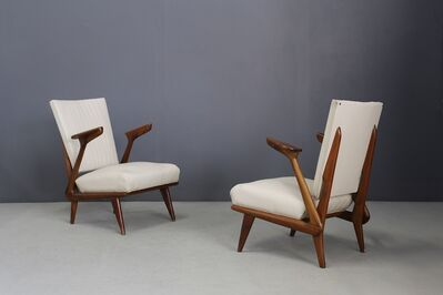 Giuseppe Scapinelli, 'Pair of Midcentury Armchairs by Giuseppe Scapinelli in Solid Wood, 1950s', 1950-1960