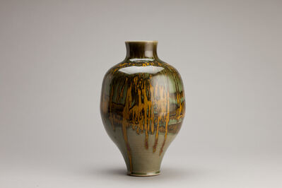 Brother Thomas Bezanson, 'Vase, celadon with iron yellow', n/a