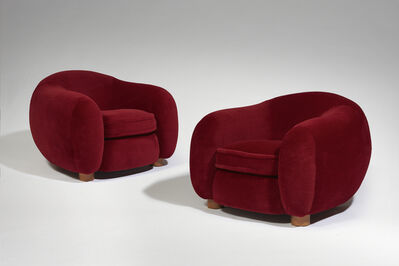 "Jean Royère, 'Pair of ""Ours Polaire"" armchairs', 1952"