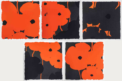 Donald Sultan, 'Poppies (Set of 5)', 2007
