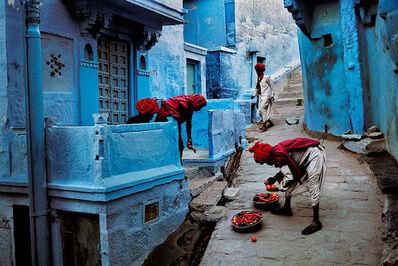 Steve McCurry, 'JODHPUR FRUIT VENDOR, JODHPUR, INDIA, 1996', 1996