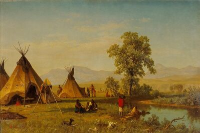 Albert Bierstadt, 'Sioux Village near Fort Laramie', 1859