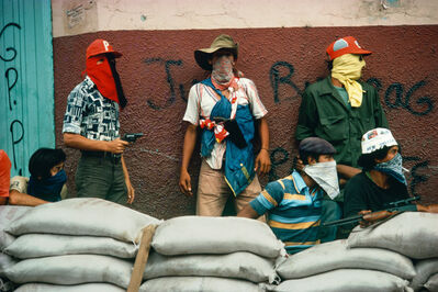 Susan Meiselas, 'Muchachos await the counterattack by the National Guard, Matagalpa, Nicaragua, 1978', Printed 2012