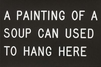 William Anastasi, 'A Painting of a Soup Can Used to Hang Here', 1991