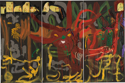 Jonathan Meese, 'Nashkätzchen's Menschenzunge des Bananenfroschkaisers Durstys', 2008