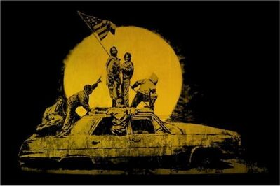 Banksy, 'Gold Flag', 2007