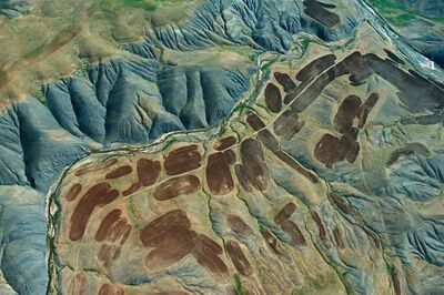 Georg Gerster, 'Fields in Kurdistan, Iran', 1976