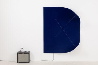 Naama Tsabar, 'Work on Felt (Variation 24) Dark Blue', 2019