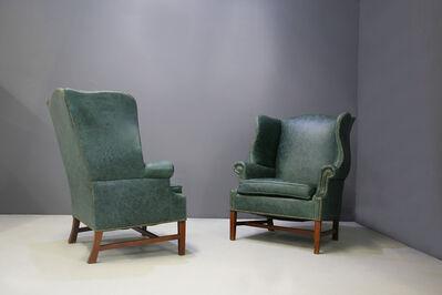 Peter Hvidt and Orla Mølgaard-Nielsen, 'Pair of armchairs by Peter Hvidt & Orla Mølgaard Nielsen Wingback Chair', 1940