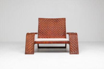 Marzio Cecchi, 'Post-modern Lounge Chair In Woven Leather by Marzio Cecchi - 1970s', 1970-1979