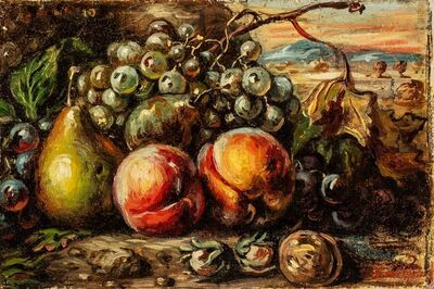 Giorgio de Chirico, 'Still life with fruits', 1952