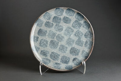 Young Jae Lee, 'Plate, chalk and feldspar glaze with engobe brushwork'
