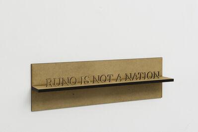 Runo Lagomarsino, 'Runo is not a Nation', 2011