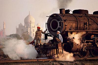 Steve McCurry, 'Taj and Train, Agra, India, 1983', 1983