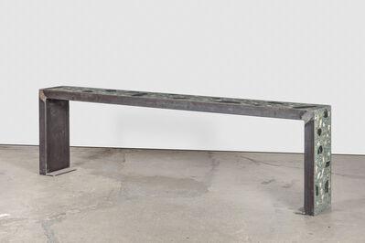 Sam Falls, 'Healing Sculpture (Terre verte bench)', 2016