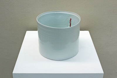 Edmund de Waal, 'Monumental Vessel with Red Splash', ca. 2002