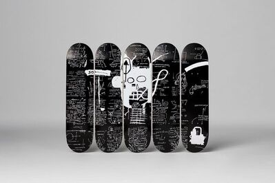 "Jean-Michel Basquiat, 'BASQUIAT ""DEMONS"" SET OF FIVE SKATE DECKS', 2016"